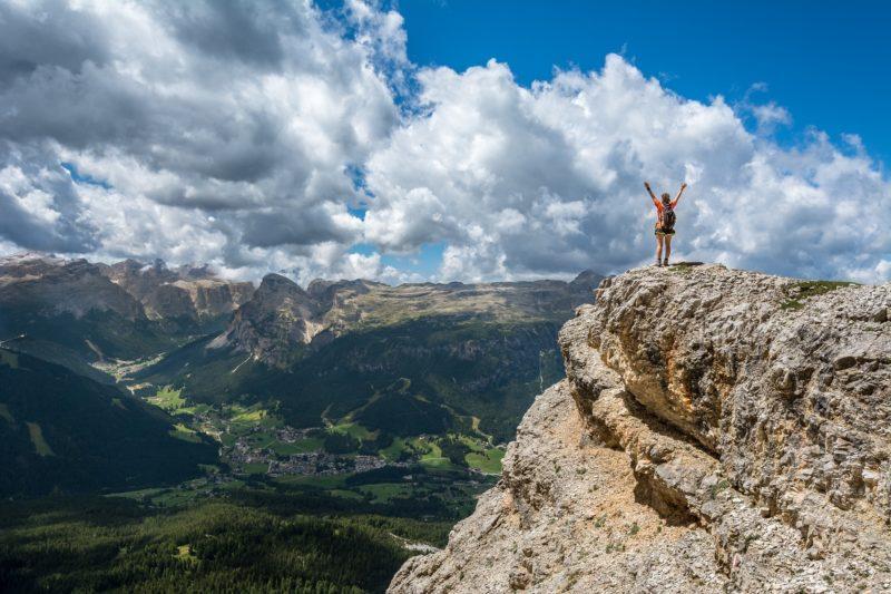 Person auf dem Berg